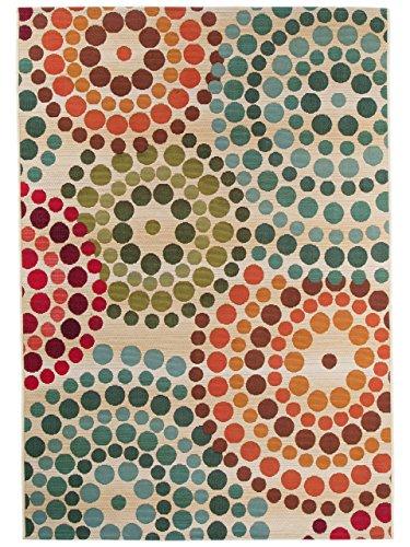 Benuta Outdoor-Teppich Artis, Kunstfaser, Beige/Multicolor, 80 x 165.0 x 2 cm, 4053894756825