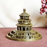 JXSHQS Beijing Tiantan Alloy Model Decoration Retro Ornament Living Room Gift Chinese Culture Art 15cmx15cmx12cm