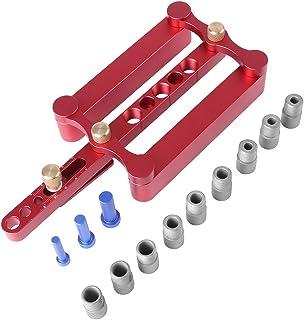 ドリルガイド 位置決めガイド ガイドプレート 補助プレート 木工 掘削 調整可能 6mm/8mm/10mm