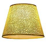 Eastlion semplice manuale moderna paralume in PVC per lampada da tavolo, lampada da parete, lampada da comodino, lampada da terra con E27 lampada titolare Coprilampada 16x25x18cm oro