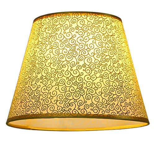 Eastlion 12inch E27/E14 PVC Lampenschirm Einfaches Leben Lampenschirme Für Tischlampe/Wandlampe,Gold