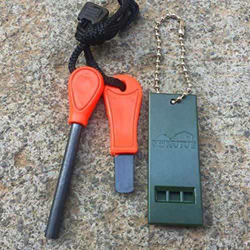 Monllafra Camping Survie équipement extérieur Version économique de Mini Silex imperméabilisant feu Bande de magnésium