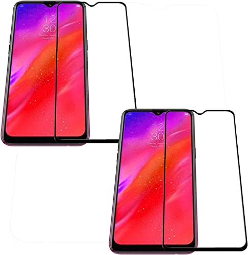 Pack of 2 11D 6D Black Full Screen Edge to Edge Tempered Glass for Oppo Reno Z Oppo Reno Z Edge to Edge Temper Glass By CanDeal Mart