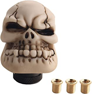 JGR Skull Manual Custom Shift Knob Screw On Universal 4 5 6 Speed Fit Honda Toyota Mitsubishi Nissan Infinitti Subaru Ford Dodge Jeep Scion Acura Datsun Hyundai Mazda ect (White)