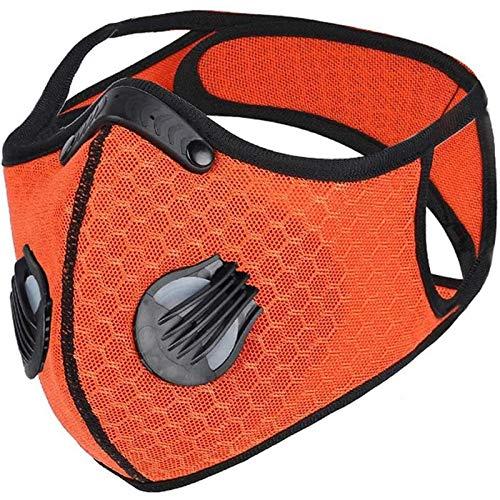 N / A Sportradmasken, Fahrradschutzmasken für den Außenbereich, explosionsgeschützte Drucke, waschbar, Staub und beschlagfrei, mit Atemventil