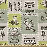 ABAKUHAUS ägyptisch Stoff als Meterware, Hieroglyphen