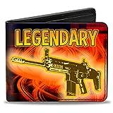 Buckle-Down Men's BI-FOLD Wallet-Legendary-FN Scar-Black/Orange/RED, Multicolor, One-Size