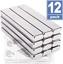 Grtard Neodymium Bar Magnets,Super Strong Rectangular Block Neodymium Magnets,DIY, Building, Scientific, Craft,and Office Magnets,N52,60 x 10 x 5mm-12 pcs