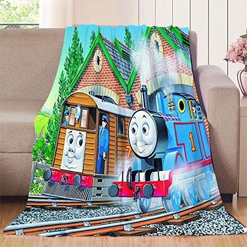 """Luxury Flannel Blanket Thomas Train Park Lightweight Microfiber, Suitable for Sofa or Bed All Season 50""""x60"""""""