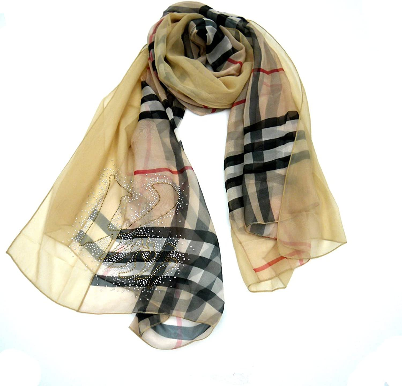 100% Silk Fashionable Design Scarf 70'' X 40''