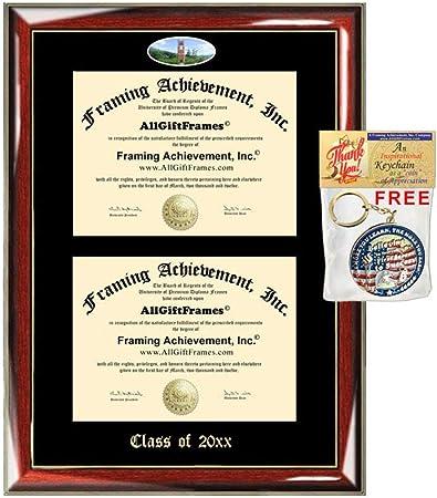 Amazon Com Allgiftframes Double Certificate Frame Western Carolina University Wcu School Embossed Fisheye Campus Photo Dual School Two College Majors Custom Diploma Holder