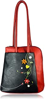 ESPE Dandi Vegan Leather Backpack with Whimsical Floral Motif