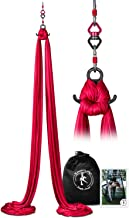 X Habits Pro Professional 10 Yards Aerial Silks Equipment for All Levels - Medium Stretch Aerial Yoga Swing & Hammock Kit - Perfect for Indoor Outdoor Aerial Dance, Circus Arts – ALL Hardware Included