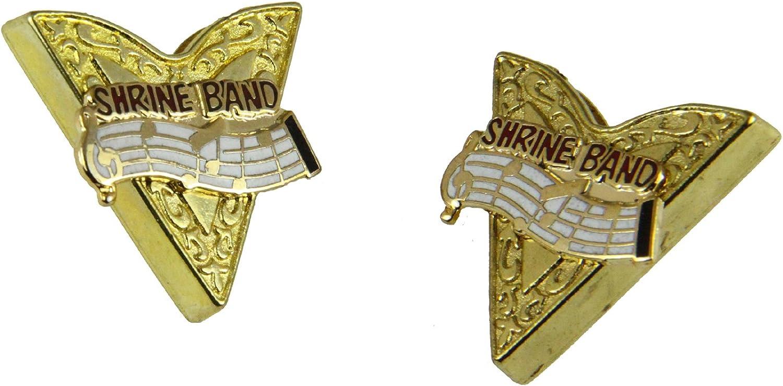 4031781 ASOB Collar Tips Association of Shrine Oriental Bands Shriner Band