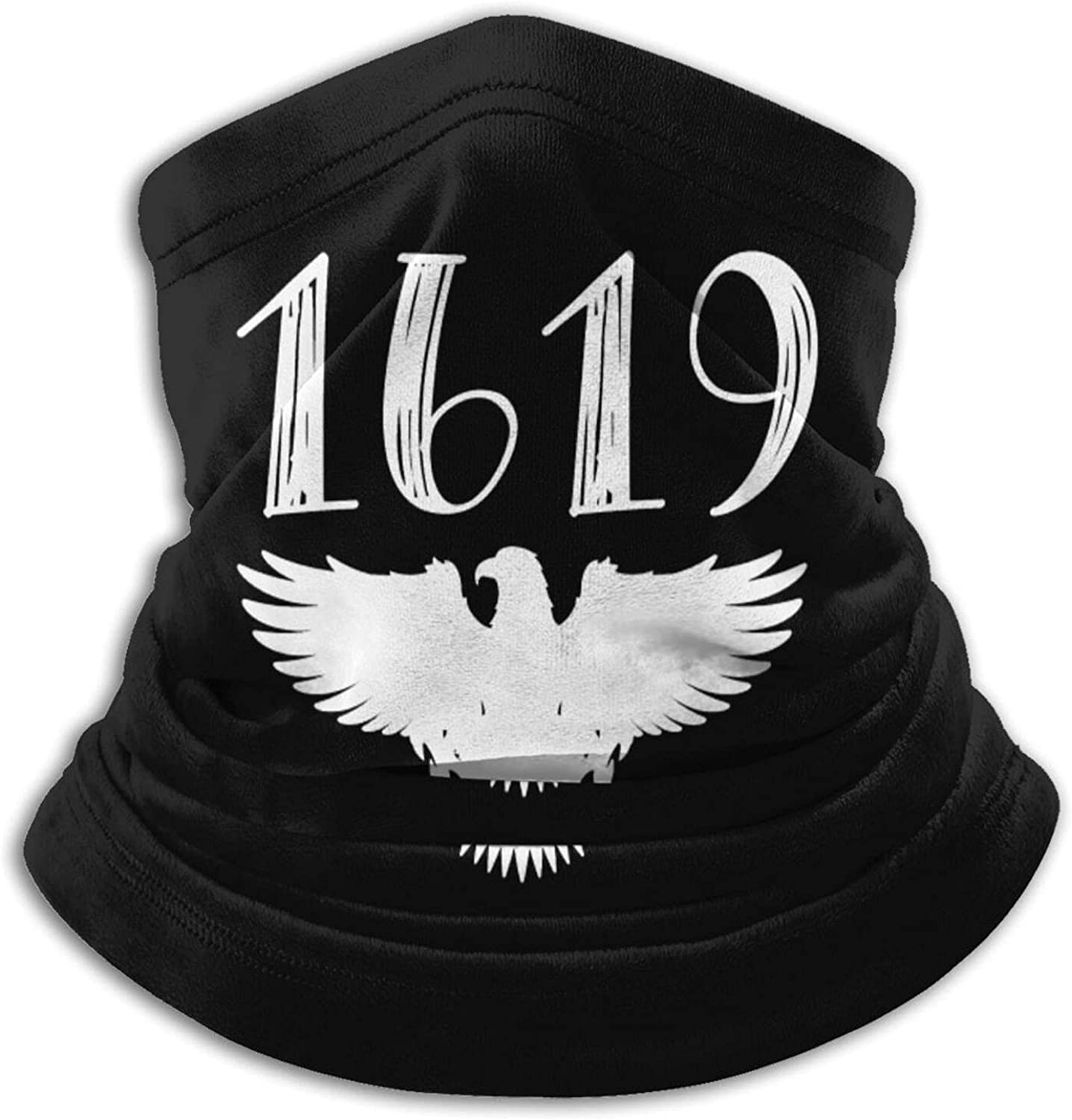 1619 our ancestors african american black unisex winter neck gaiter face cover mask, windproof balaclava scarf for fishing, running & hiking