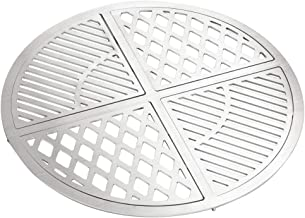 Skyflame Stainless Steel Modular Grill Grate Fit for 22 to 22.5 inch Weber Dancook Kettle Style Charcoal Grills, Outdoor BBQ Grill Accessories, Luxury 4 Pieces Web Format Grate