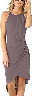 Women's Casual Spaghetti Strap Summer Dress Bodycon Midi Party Sleeveless Dresses