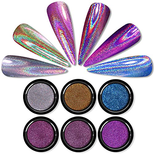 Holographic gel nail polish, Holographic nail powder