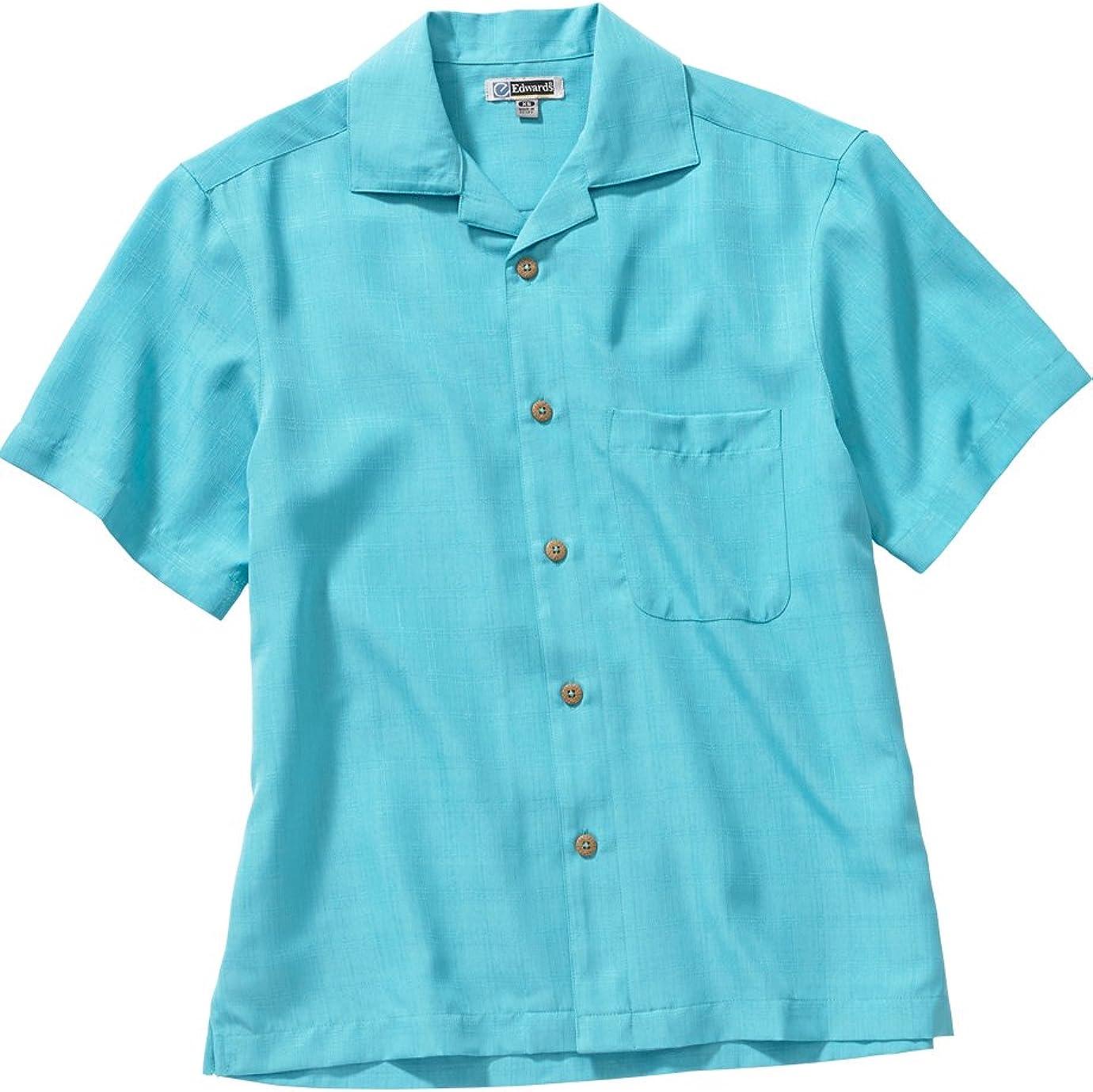 Ed Garments Men'S 1030 Classic Camp Style Button Down Shirt (Aqua 6X-L-T)