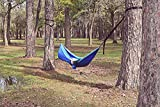 Flat Laying Hammock,Totally Different Hammock.You Will NOT Sleep in a C-Shape Curve.Lightweight,Portable,Single and Double Use,Indoors/Outdoor & Backyard (Blue)