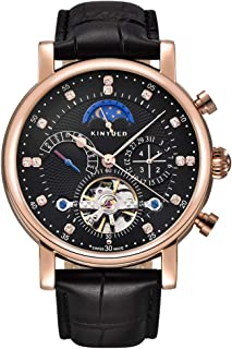Men Top Luxury Brand Automatic Mechanical Watches Fashion Casual Leather Men's Tourbillon Moon Phase Sport Watch