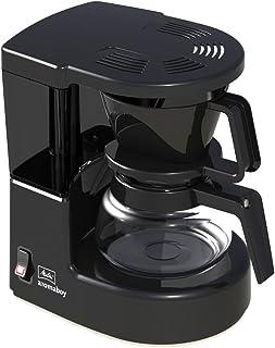 Melitta Aromaboy II 1015-02, liten kaffebryggare med glaskanna, två koppar, svart