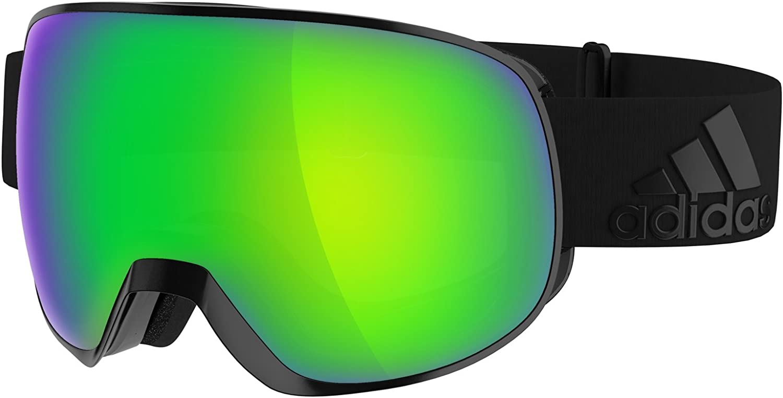 Adidas Goggles ad82 6055 Black Matt Green Mirror Progressor S Visor Goggles Len