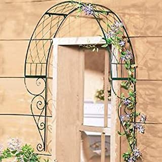 TINTON LIFE Metal Garden Trellis for Climbing Plants Wall Mounted Garden Arbor Arch for Windows Doors Vines Flowers Pot Trellis Plant Support for Ivy Roses Cucumbers Clematis 42.1x39.4