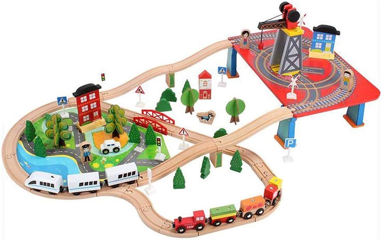 FLYSXP Hölzernes DIY Zusammengebautes 88 Stück des Satzes Spielzeug des Festen Zugs des Festen Holzes Lernspielzeug für Kinder B07LG1YM95 Neuartiges Design    Ausgezeichnetes Preis