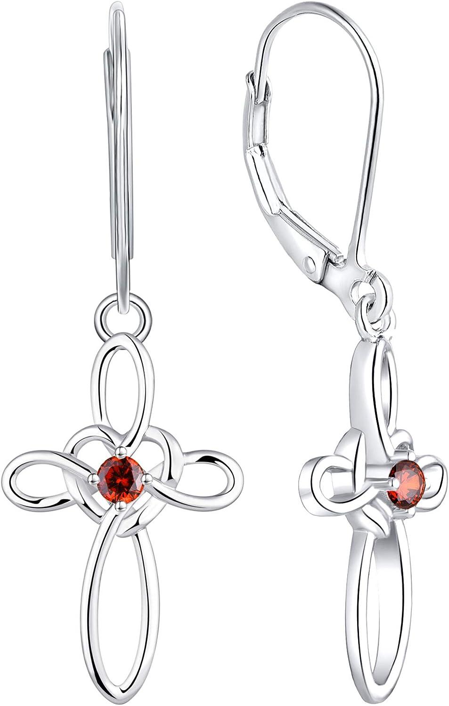 Las San Diego Mall Vegas Mall YL Celtic Knot Cross Earrings Earrin Sterling Silver Drop Dangle
