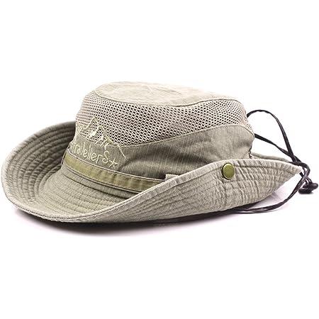 S01-Coffee Thenice Unisex Baumwolle Sonnenhut Outdoor Bucket Mesh Boonie Hat