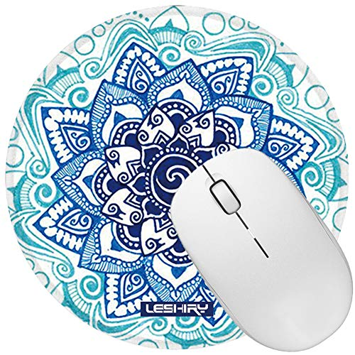 LESHIRY Mouse Pad, Cute Circular Mousepad with Design, Beautiful Parttern Mouse Pads with Stitched Edge, 7.9X7.9 Inch Small Mouse Mat for Laptop and Computer (Mandala 14) Photo #7