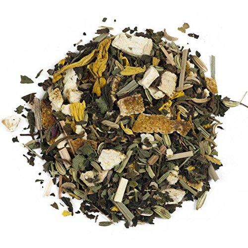 Aromas de Té - Infusión Hechizo Herbal - - Con Naranja, Hinojo, Ortiga, Hojas de Melisa y Flores de Girasol - Infusión Natural - Sin Gluten - 100 gr