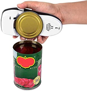 DOINSHOP Automatic Electric Can Tin Opener No Hands Battery Operated Kitchen Restaurant Works on All Jars