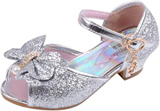 Hot! 💞 Kids Party Shoes Girl 💞 MS-SM Toddler Infant Baby Pearl Crystal Bling Bowknot Single Princess Open Toe Breathable Dancing Wedding Sandals for 3.5-11 Years Old
