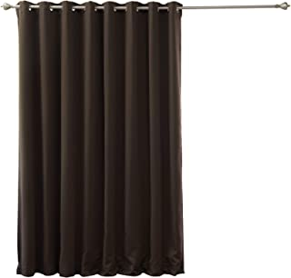 Best Home Fashion Wide Width Thermal Insulated Blackout Curtain - Antique Bronze Grommet Top - Dark Chocolate - 100