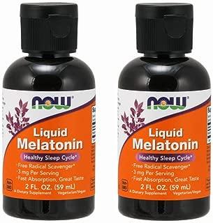 Now Foods Liquid Melatonin, 2 Fl Oz, Pack of 2 (Packaging May Vary)