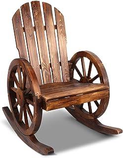 Gardeon Wooden Rocking Chair Outdoor Garden Furniture Patio