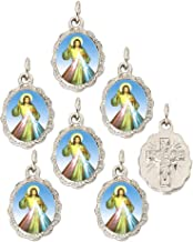 Divine Mercy Silver Medal Pendant by Catholica Shop | Lot of 6