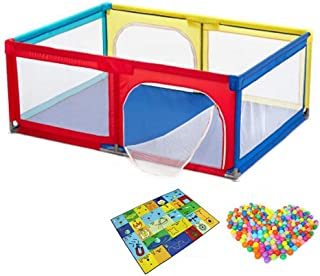 XHJYWL Playpen Baby with Balls  Child Game Fence Playground Security Fence for Toddler Crawling Mat  68cm Tall