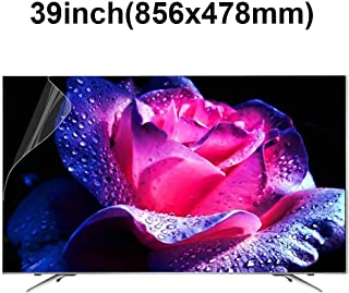 KUYUC 39inchs TV Screen Protector, Anti Blue Light Eye Protection, Ultra-Clear Anti-Glare Screen Filter, Anti-Scratch Screen Protector, Filter Film Reduce Eye Fatigue (Color : A)