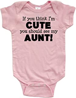 c92e91884 Apericots Original Funny Baby Bodysuit 100% Cotton If You Think I'm Cute See
