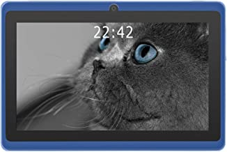 YUNTAB 7 inch Android Tablet - 1.5 Ghz Quad Core CPU, with WiFi, 1GB RAM, 8GB ROM, 1024x600 HD Touch Screen, Pre-Loaded Google Play Store & Games, Dual Camera(Blue)