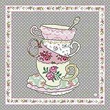 TT73 Clayre & Eef - Tea Time - Serviettes de papier - Set de 20 ca. 33 x 33 cm