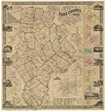 York County Maine 1856 - Wall Map with Homeowner Names - Old Map Reprint