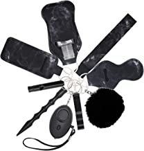 مجموعة سلسلة مفاتيح الحماية الأمان جي اتش شو للنساء، 10 قطع مع إنذار السلامة الشخصية، بوم وسوار المعصم