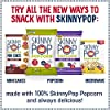 SkinnyPop White Cheddar Popped Popcorn, 100 Calorie Bags, Vegan, Gluten-free, Non-GMO, 0.65 oz Individual Snack Sized Bags (Pack of 6), Cheddar-Cheese, 3.9 Oz #3