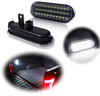 Miniclue 2pcs Clear Lens LED Truck Bed Light Assembly Kit Compatible with Ford 2015-2020 F150, 2017-2020 Raptor or F250 F3...