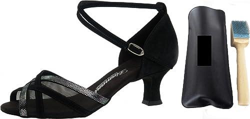 Diahommet 035-064-139, chaussures de danse pour femme avec brosse d'entretien et de nettoyage MC-Tanz