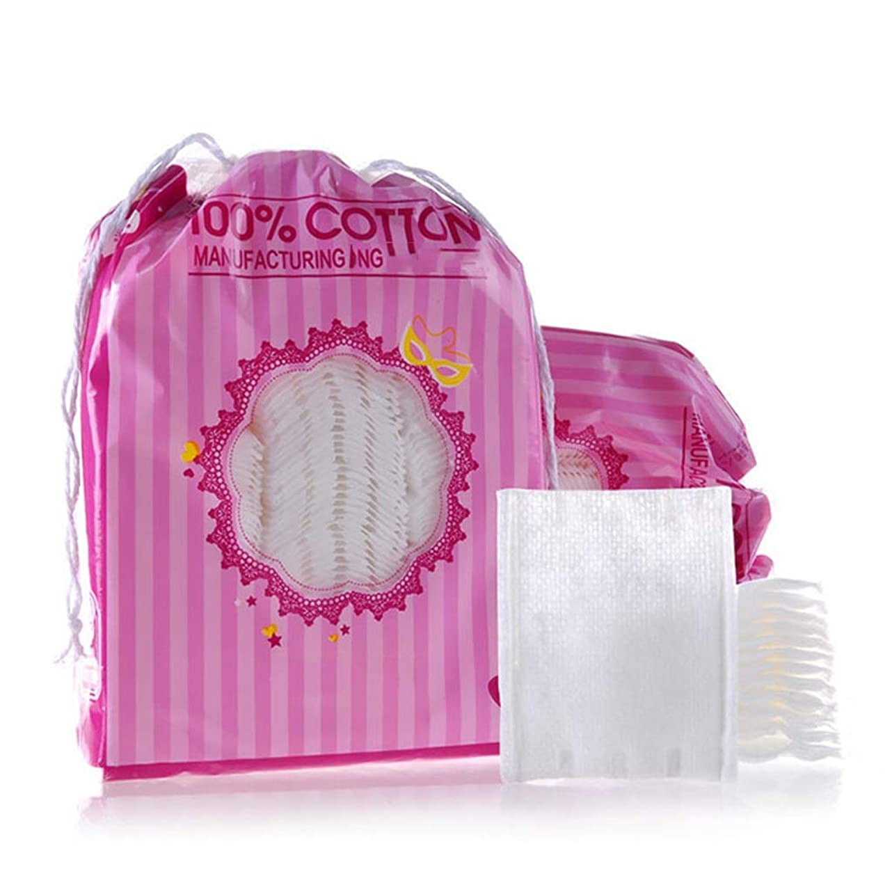 竜巻放棄管理者クレンジングシート 200ピースコットンメイクアップリムーバーパッドソフトオーガニックネイルポリッシュワイプ両面フェイスクレンジング美容化粧品パッド (Color : White)